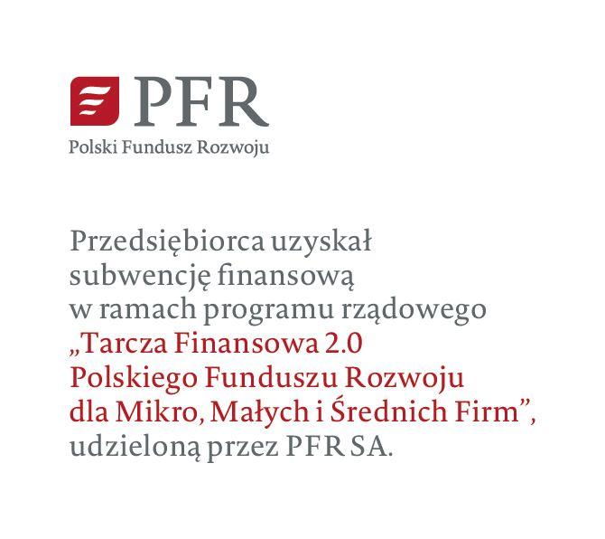 Informacja o uzyskaniu subwencji udzielonej przez PFR SA